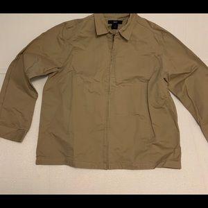Vintage Gap Mens Khaki Classic Light Zip Jacket